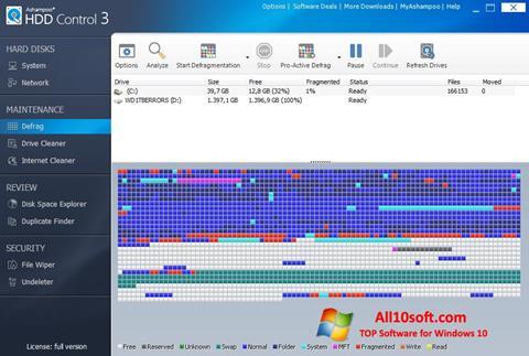 Screenshot Ashampoo HDD Control for Windows 10