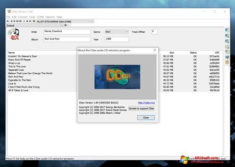 Screenshot CDex for Windows 10