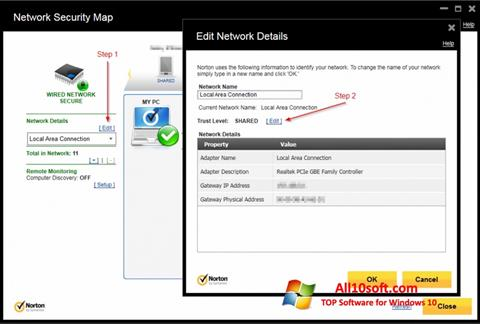 Screenshot Norton Internet Security for Windows 10