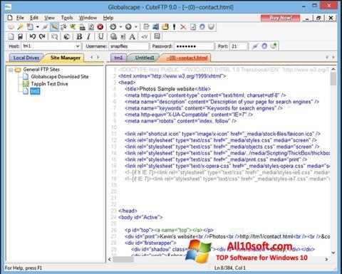 Screenshot CuteFTP for Windows 10