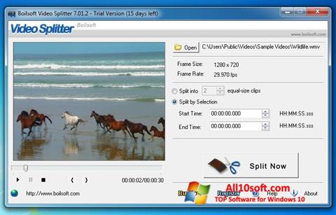 Screenshot Boilsoft Video Splitter for Windows 10