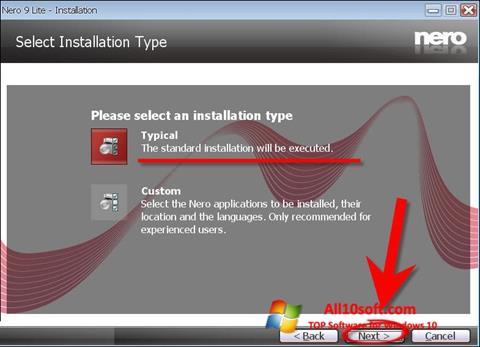 Screenshot Nero Lite for Windows 10